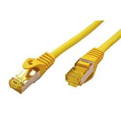 S/FTP patchkabel kat. 7, s konektory RJ45, LSOH, 0,25m, žlutý