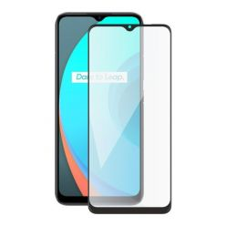 Screenshield REALME C11 (full COVER black) Tempered Glass Protection