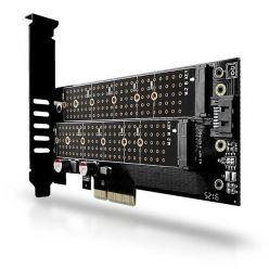 AXAGON PCEM2-D, M.2 adaptér do PCIe, low profile