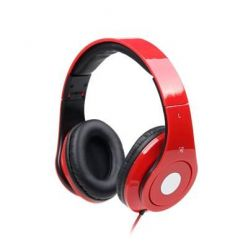 Gembird Detroit, sluchátka s mikrofonem, červená