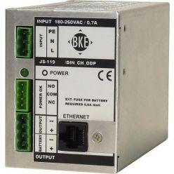 Napájecí zdroj/nabíječ na DIN lištu s dohledem BKE JSD-119-545/DIN2_CH_ODP 54,5 V, 120 W, 2,5 A, LAN port