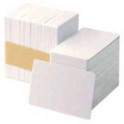 Zebra PVC karty, balení 500ks karet na potisk, bílá barva, magnetický proužek
