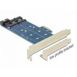 Delock PCI Express Karta > 2 x interní M.2 NGFF + low profile