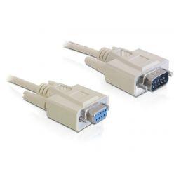 Delock Cable RS-232 serial Sub-D9 samec / samice 1 m