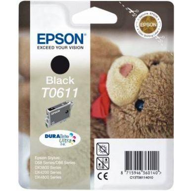 Epson T0611, černá inkoustová cartridge, 8ml