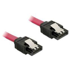 Delock kabel SATA III 10 cm, přímý, červený