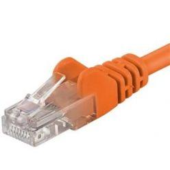 Patch kabel UTP RJ45-RJ45 level CAT6, 0.25m, oranžová