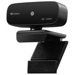 Sandberg webkamera, 1080p, autofocus, USB, černá