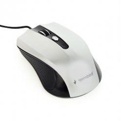 Gembird drátová myš MUS-4B-01-BS, stříbrná