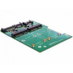 "Delock adaptér SATA 22 pin + 7 Pin > 2 x mSATA s 3,5"" rámečkem"