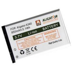 Originální baterie pro mobilní telefon Aligator A340, Li-ion 850mAh, bulk