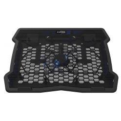 """CANYON chladící podstavec NS02 pro notebook 10-15.6"""", LED podsvícení, 1x ventilátor, 340x265x30mm"""