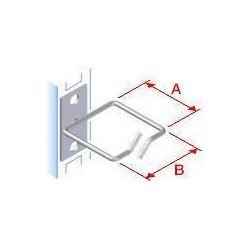 Vyvazovací háček 40x80 D1 kov levý fix,čelní gate