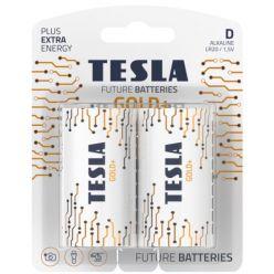 Tesla D GOLD+ alkalická, 2 ks, blister