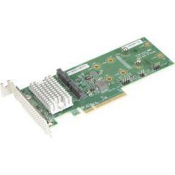 Supermicro AOC-SLG3-2H8M2 - RAID karta pro 2×NVMe/sATA M.2 do PCI-E8LP g3 (2280/22110)