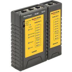 Delock tester kabelů RJ45 / RJ12 + Portfinder
