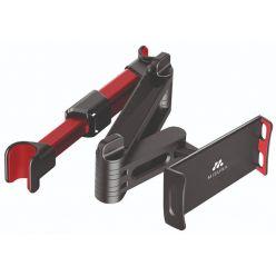 MISURA skládací držák tabletu a mobilu do auta černo červený