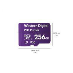 WD Purple 256GB microSDXC karta, UHS-I U3 V30, 100R/60W