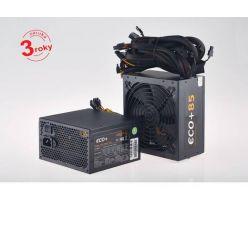 Eurocase ECO+85, 600W ATX zdroj, aPFC, 14cm fan, účinnost 85+