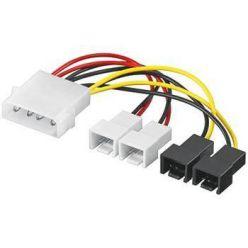 Kabelová napájecí redukce z molexu na 2x 3-pin (12V) a 2x 3-pin (5V)