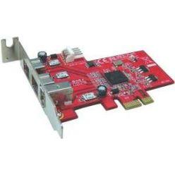 Kouwell PE-107, řadič FireWire, 2x800, 1x400,  PCIe-x1