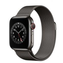 Apple Watch Series 6 GPS + Cellular, 40mm, grafitová ocel/grafitová, Milánský tah