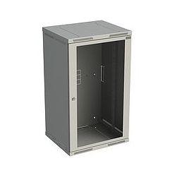 Rack nástěnný Sensa 21U 600mm,dv.sklo, šedý