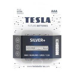 Tesla AAA SILVER+ alkalická, 4 ks, ND