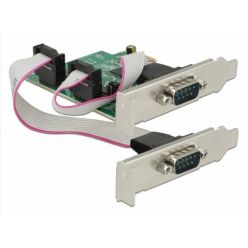 Delock Sériový řadič 2x RS-232 high speed 921K s volitelným napětím, PCIe