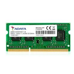 ADATA 4GB DDR3L-1600MHz CL11 SO-DIMM 1.35V