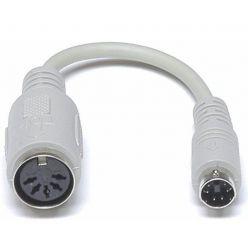 Redukce pro starou klávesnici, PS2 (samec) -> PC DIN (samice), 15cm