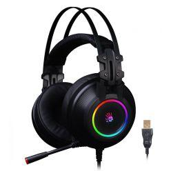 A4tech HU-35, herní headset, USB, černá barva