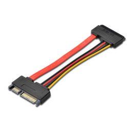 PremiumCord Prodlužka k HDD SATA 22pin, data + napájení, M/F, 15cm