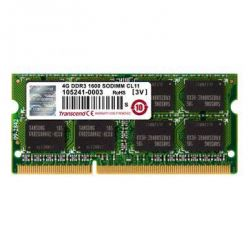 Transcend 4GB DDR3 1600MHz CL11, SO-DIMM