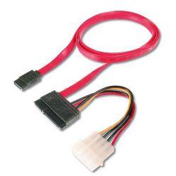 PremiumCord kabel SATA II datový + napájecí, 1m