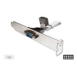 Digitus záslepka slotu se sériovým DB9 portem + kabel 0,25m
