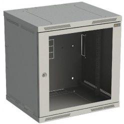 """Solarix 19"""" nástěnný rozvaděč SENSA 12U 600mm, dveře sklo, šedý"""