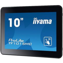 """Dotykový monitor IIYAMA ProLite TF1015MC-B2, 10"""" kioskový  VA LED, PCAP, 25ms, 450cd/m2, USB, VGA/HDMI/DP, černý"""