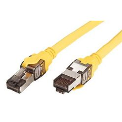 S/FTP patchkabel kat. 8.1, LSOH, 1m, žlutý