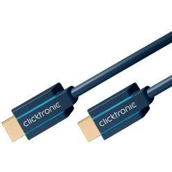 ClickTronic HDMI 2.1 kabel, zlacené konektory, 1m