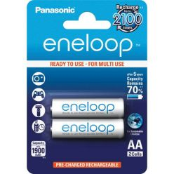Panasonic eneloop, AA, Ni-Mh, 2ks, 1900mAh, 2100 cyklů