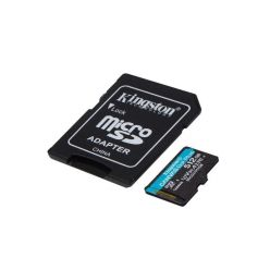 Kingston Canvas Go! Plus 512GB microSDXC karta, UHS-I V30 A2, 170R/100W + adaptér