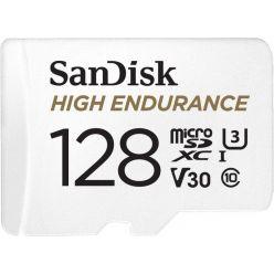SanDisk High Endurance 128GB microSDXC karta, UHS-I U3 + adaptér