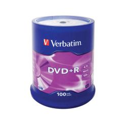 Verbatim DVD+R Matt Silver, 4.7GB, 16x, 100ks, spindle