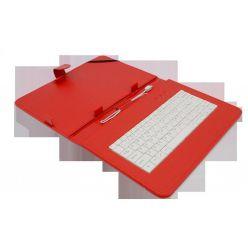 "AIREN AiTab Leather Case 4, 10"" pouzdro s klávesnicí, microUSB, CZ, červené"