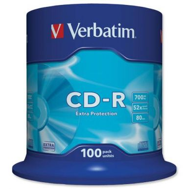 Verbatim CD-R ExtraProtection, 700MB, 52x, 100ks, spindle