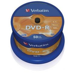 Verbatim DVD-R Matt Silver, 4.7GB, 16x, 50ks, spindle