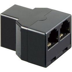 Goobay rozdvojka RJ11 6P4C (3xF), černá