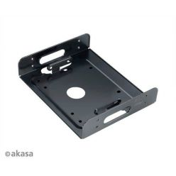 "AKASA AK-HDA-01, adaptér pro 2.5"" a 3.5"" HDD do 5.25"" šachty, černý"