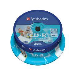 Verbatim CD-R AZO Wide Printable, 700MB, 52x, 25ks, spindle